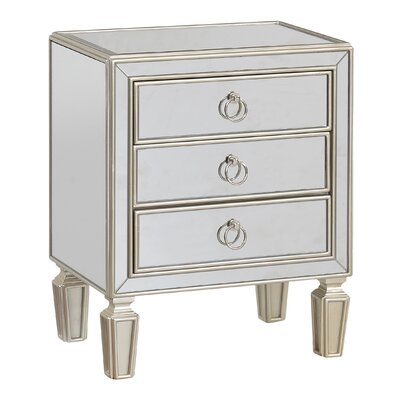 Portillo 3 Drawer End Table
