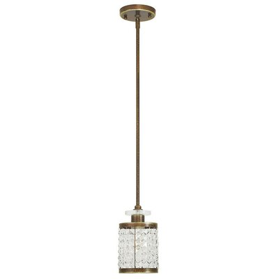 Rickmansworth 1-Light Mini Pendant Finish: Palacial Bronze