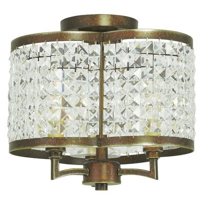 Rickmansworth 3-Light Drum Chandelier Finish: Palacial Bronze