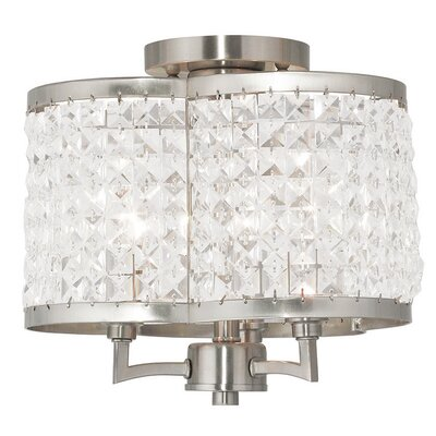 Wetzel 3-Light Drum Chandelier Finish: Brushed Nickel