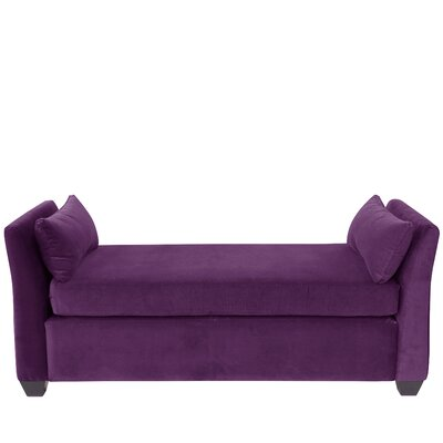 Alcor Velvet Daybed Color: Aubergine