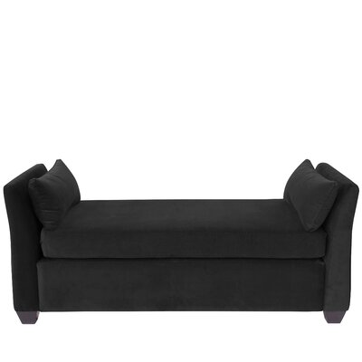 Alcor Velvet Daybed Color: Black