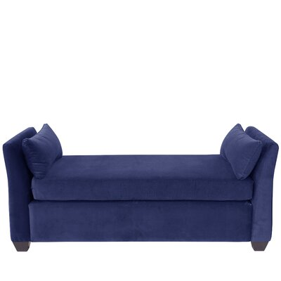 Hedon Velvet Daybed Color: Navy