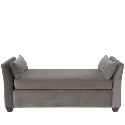 Alcor Velvet Daybed Color: Steel Gray