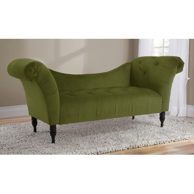 Elissa Lounge Settee Upholstery: Apple Green