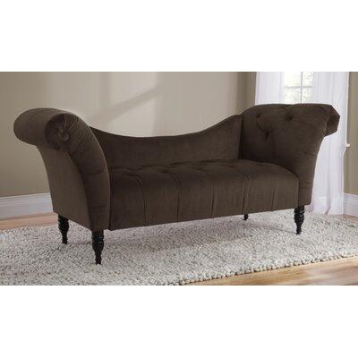 Elissa Lounge Settee Upholstery: Chocolate