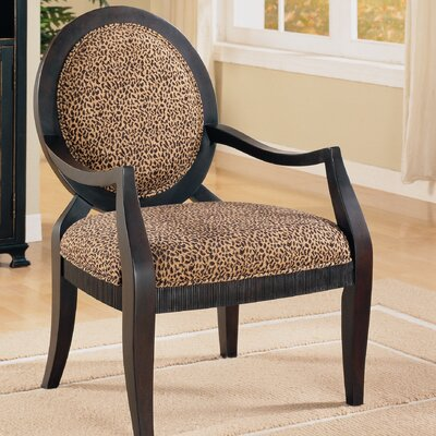 Fredonia Leopard Print Distressed Fabric Armchair