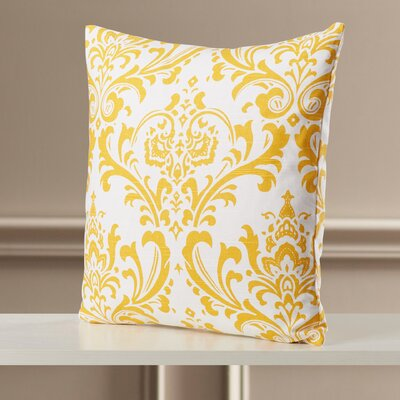 Burlington 100% Cotton Throw Pillow Color: Corn Yellow, Size: 18x18