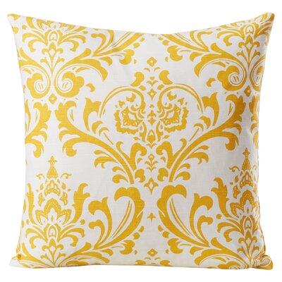 Burlington 100% Cotton Throw Pillow Color: Corn Yellow, Size: 18x18