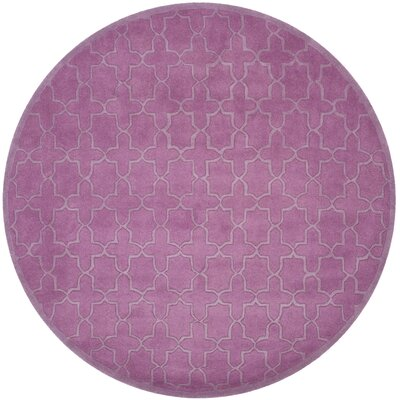 Gosport Hand-Tufted Dark Pink Area Rug Rug Size: Square 7