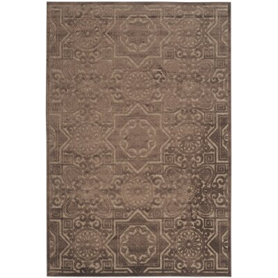 Wayfarer Hand-Loomed Light Brown Area Rug Rug Size: 53 x 76