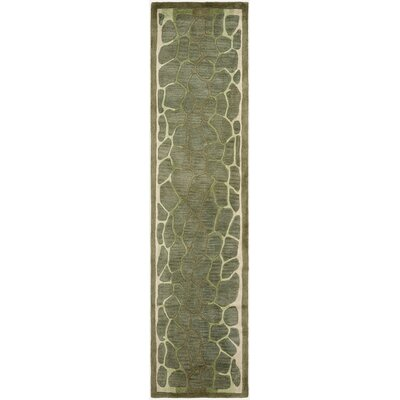 Arusha Hand-Tufted Grassland Green Area Rug Rug Size: Runner 23 x 10