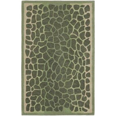 Arusha Hand-Tufted Grassland Green Area Rug Rug Size: 5 x 8