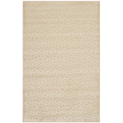 Turtoise Hand-Loomed Creme Area Rug Rug Size: Rectangle 27 x 4