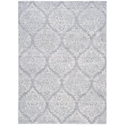 Augustus Gray/Silver Area Rug Rug Size: 4 x 6