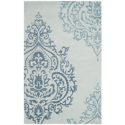 Janson Hand-Tufted Light Blue / Dark Blue Area Rug Rug Size: 4 x 6