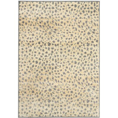 Martha Stewart Light Grey / Cream Area Rug Rug Size: 4 x 57