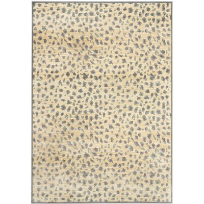 Martha Stewart Light Grey / Cream Area Rug Rug Size: 53 x 76