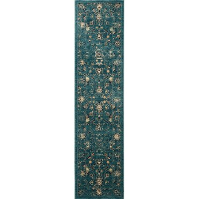 Morehouse Turquoise/Beige Area Rug Rug Size: Runner 2' x 12'