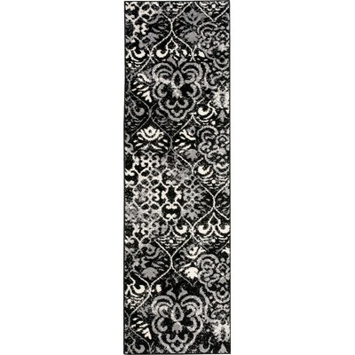 Horsham Black Area Rug Rug Size: Runner 22 x 73