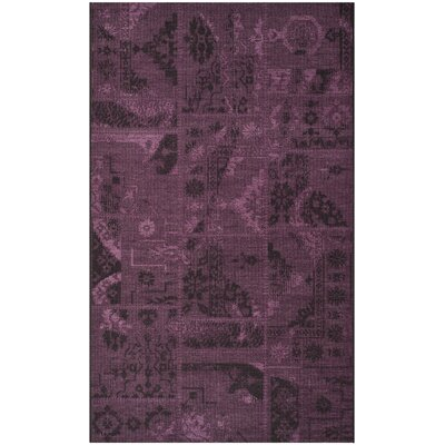 Chipping Ongar Black/Purple Area Rug Rug Size: 4 x 6