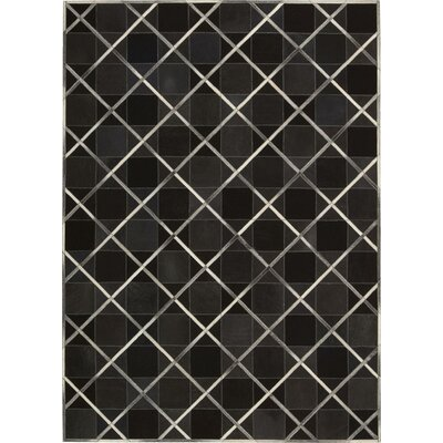 May Handmade Coal Area Rug Rug Size: 53 x 75