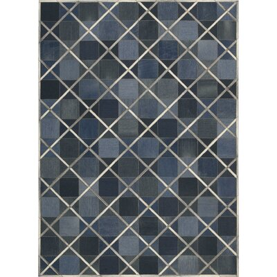 May Handmade Indigo Area Rug Rug Size: Rectangle 53 x 75