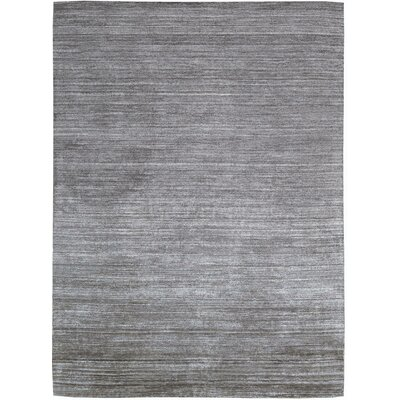 Wimbledon Handmade Mineral Graphite Area Rug Rug Size: 56 x 75