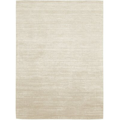 Roxy Handmade Beige/Ivory Area Rug Rug Size: Rectangle 56 x 75