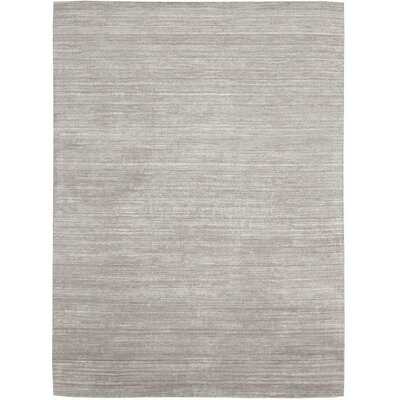 Roxy Handmade Silver Area Rug Rug Size: Rectangle 36 x 56