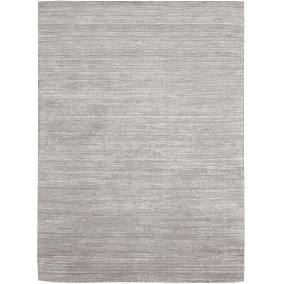 Wimbledon Handmade Mineral Silver Area Rug Rug Size: 79 x 1010