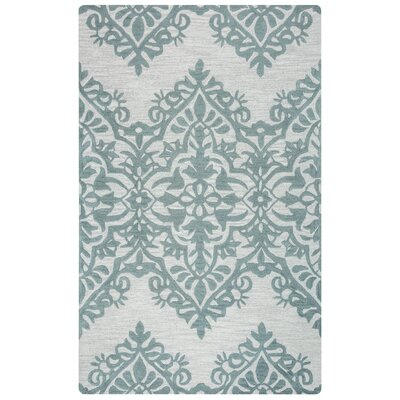 Ludlow Hand-Tufted Green/Gray Area Rug Rug Size: 5 x 8