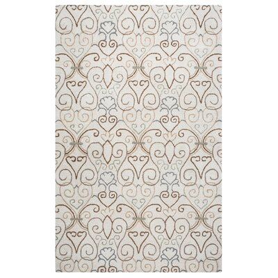 Salford Hand-Tufted Ivory Area Rug Rug Size: 9 x 12