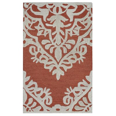 Uxbridge Hand-Tufted Red Area Rug Rug Size: 9 x 12