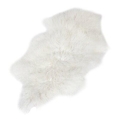 Doncaster White Lamb Fur Area Rug