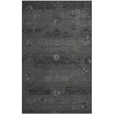 Chipping Ongar Black / Grey Area Rug Rug Size: 4 x 6
