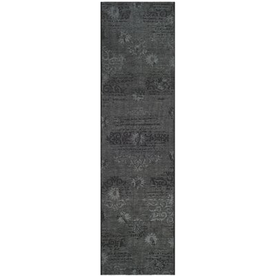 Chipping Ongar Black / Grey Area Rug Rug Size: Runner 2 x 73