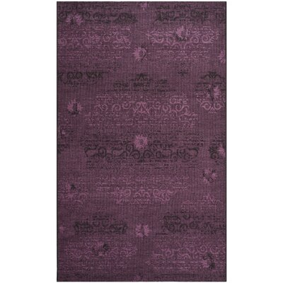 Chipping Ongar Black / Purple Area Rug Rug Size: 4 x 6