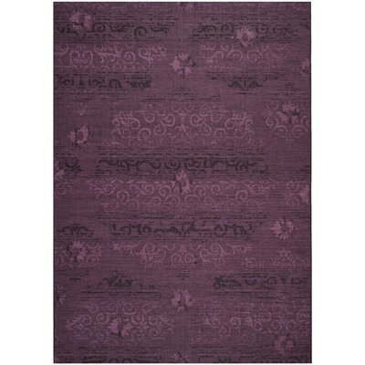 Chipping Ongar Black / Purple Area Rug Rug Size: 8 x 11