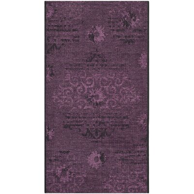 Chipping Ongar Black / Purple Area Rug Rug Size: Rectangle 26 x 5