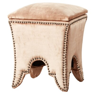 Patton Storage Ottoman Upholstery: Black, Nailhead Detail: Silver