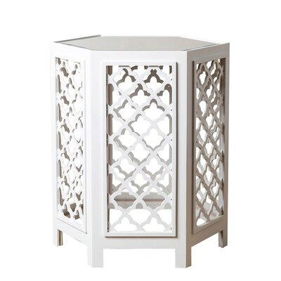 Tottenham End Table Color: White
