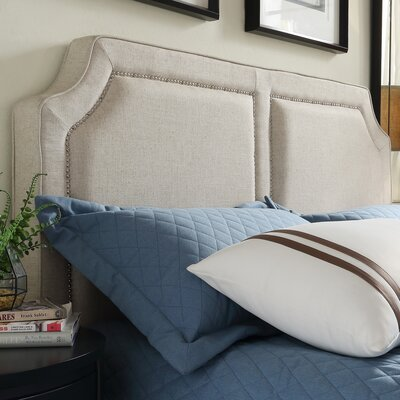 Thirsk Upholstered Panel Headboard Size: King