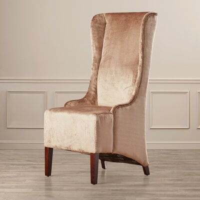 Arthurs Faux-Silk Velvet Wing Chair