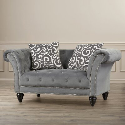 Willa Arlo Interiors WRLO8005 Hendrix Chesterfield Loveseat