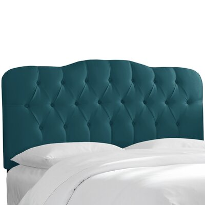Portsmouth Tufted Upholstered Panel Headboard Size: King, Upholstery: Peacock