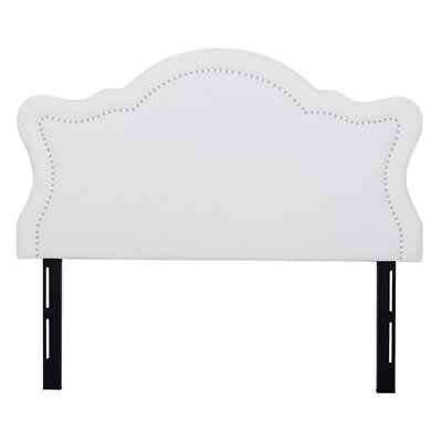 Bromley Upholstered Panel Headboard Upholstery: Off-White, Size: Queen