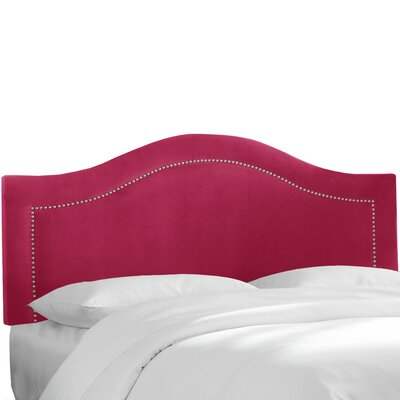 Almanza Nail Button Upholstered Panel Headboard Upholstery: Sangria, Size: Twin