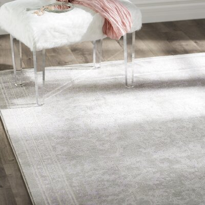 Becontree Gray/Lavender Area Rug Rug Size: Rectangle 9 x 12