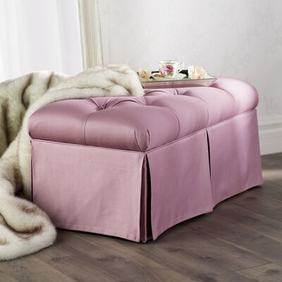 Davina Tufted Upholstered Microdenier Storage Bench Upholstery: Woodrose